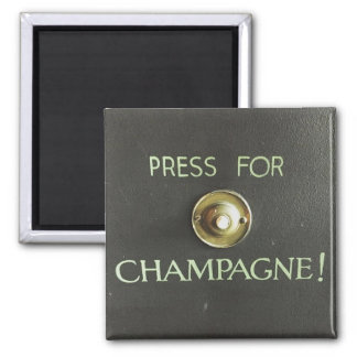 champagne 2 inch square magnet