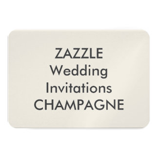 "CHAMPAGNE 5"" x 3.5"" Wedding Invitations"