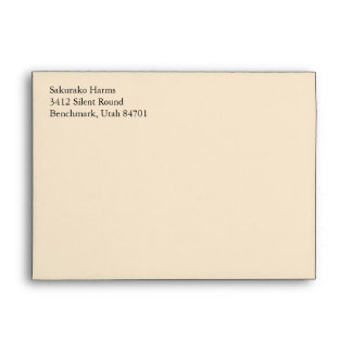 Champagne A7 5x7 Custom Pre-addressed Envelopes