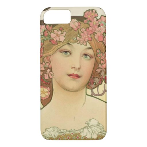 Champagne Alphonse Mucha iPhone 7 Cover Case