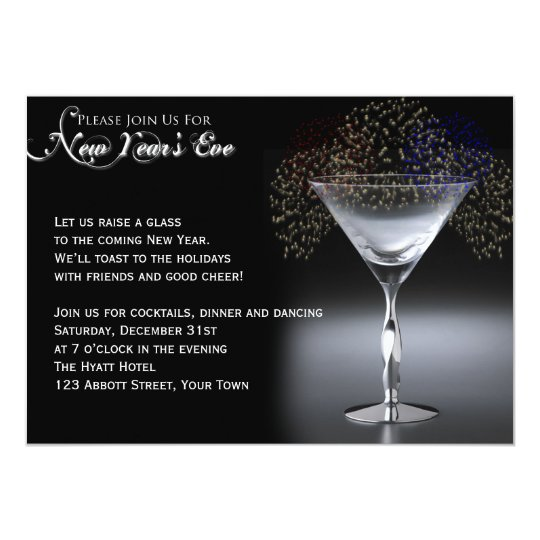 Champagne And Fireworks New Years Eve Party Invitation Zazzle Com