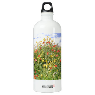 Champagne and Flowers Aluminum Water Bottle