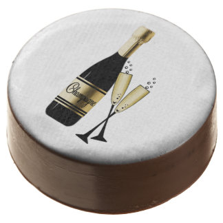 Champagne and Flutes Chocolate Dipped Oreo