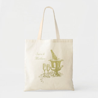 Champagne and Glasses Art Budget Tote Bag