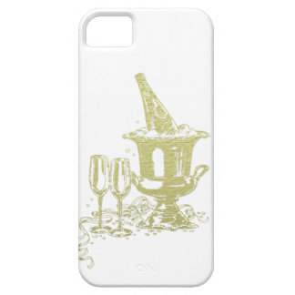 Champagne and Glasses Art iPhone 5 Cover