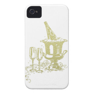 Champagne and Glasses Art iPhone 4 Cover