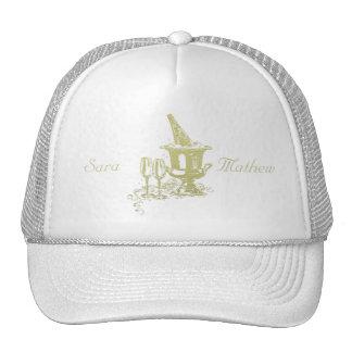 Champagne and Glasses Art Trucker Hat