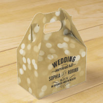 Champagne and Gray Wedding Survival Kit Favor Box