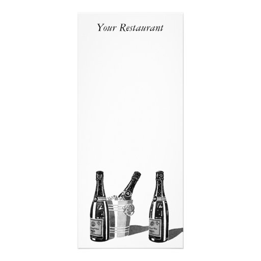 Champagne and Ice Bucket Menu Rack Card Template