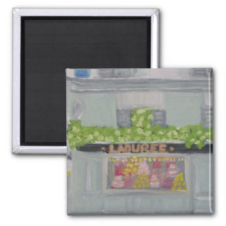 Champagne and Macaroons 2 Inch Square Magnet