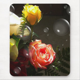 Champagne and Roses Mouse Pad