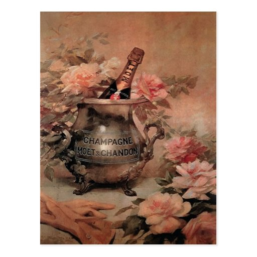 Champagne and Roses Postcards