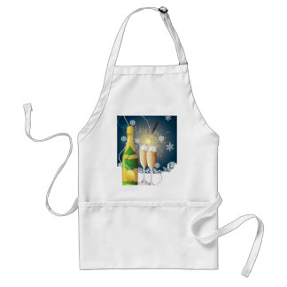 Champagne and sparkler adult apron