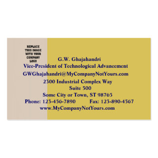 Champagne and White Wine Business Card