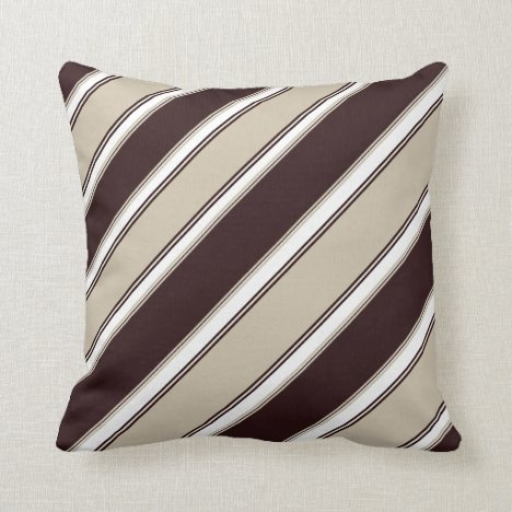 Champagne and Wine Striped Throw Pillow
