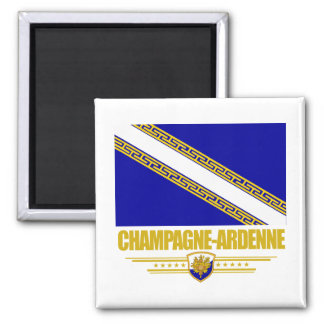 Champagne-Ardenne 2 Inch Square Magnet
