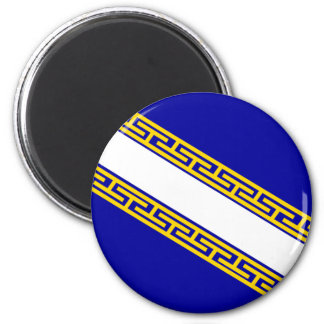 Champagne-Ardenne, France flag 2 Inch Round Magnet
