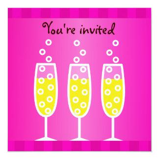 Champagne Bachelorette Pink Card