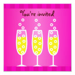 Champagne Bachelorette Pink Custom Announcements