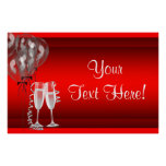 Champagne Balloons Red Party Banner Poster