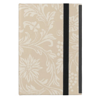 Champagne Beige Acorn Floral iPad Mini Case
