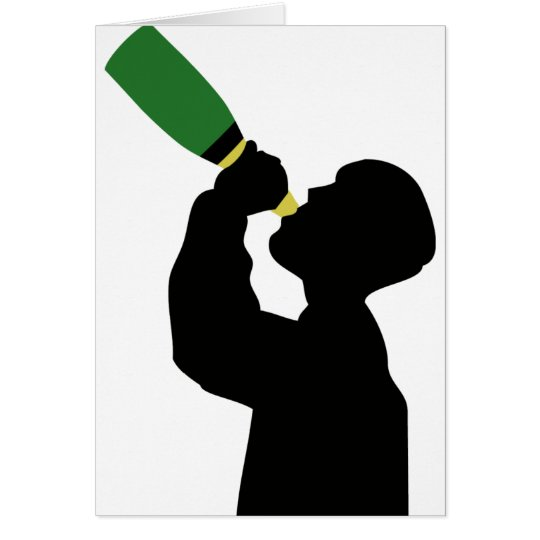 champagne birthday boozer card