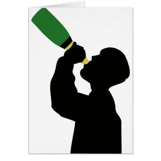 champagne birthday boozer greeting card