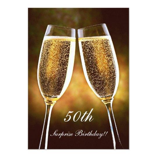 Champagne Birthday Invitation