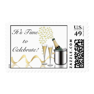 Champagne Birthday Party Postage