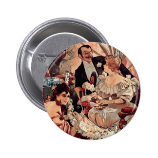 Champagne Biscuits 1896 Pinback Buttons