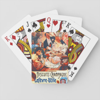Champagne Biscuits Ad 1896 Card Deck