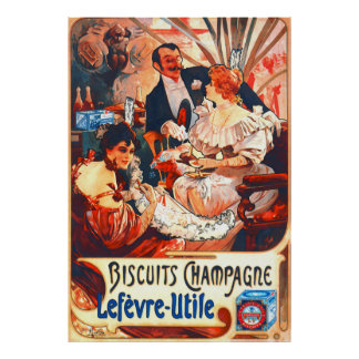 Champagne Biscuits Ad 1896 Poster