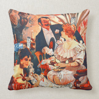 Champagne Biscuits Ad 1896 Throw Pillow