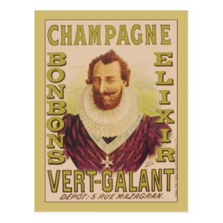 Champagne Bonbons Elixir Postcard