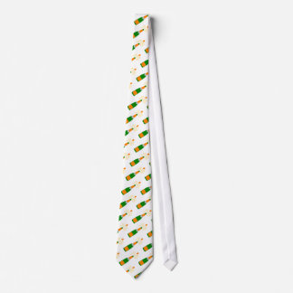 Champagne Bottle and Popping Cork Tie