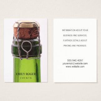 Champagne Bottle Business Card