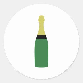 champagne bottle classic round sticker