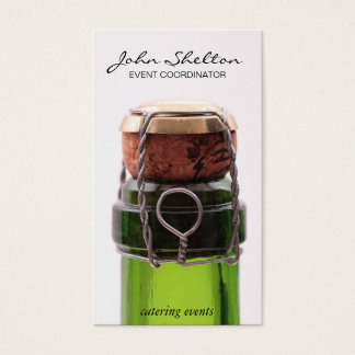 Champagne Bottle | Close up Business Card