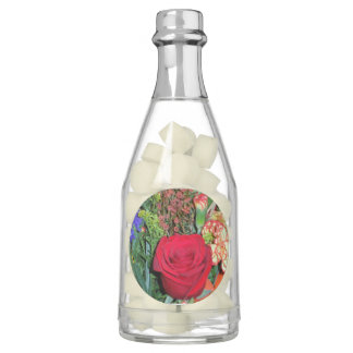 Champagne Bottle Favors-floral image Chewing Gum