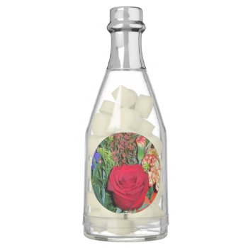 Champagne Bottle Favors-floral Image Chewing Gum by CREATIVEWEDDING at Zazzle