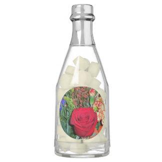 Champagne Bottle Favors-floral image Gum