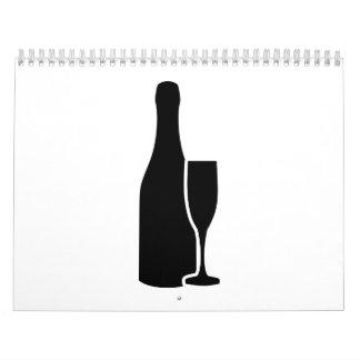 Champagne bottle glass calendar