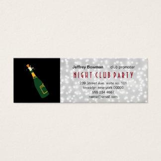 Champagne Bottle Pop / Bokeh White Glow Mini Business Card