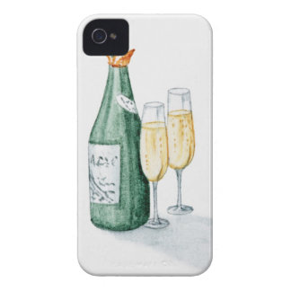 Champagne Bottles and Two Glasses Case-Mate iPhone 4 Case