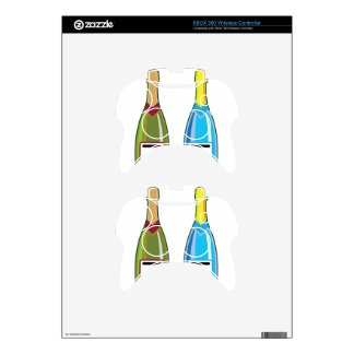Champagne bottles vector xbox 360 controller decal