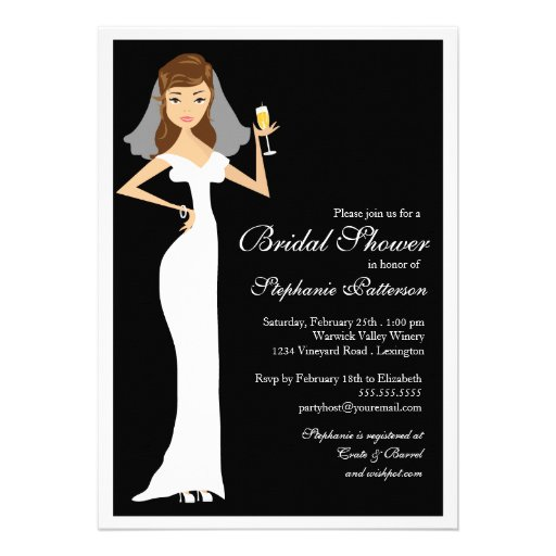 Champagne Bridal Shower Celebration Invitation