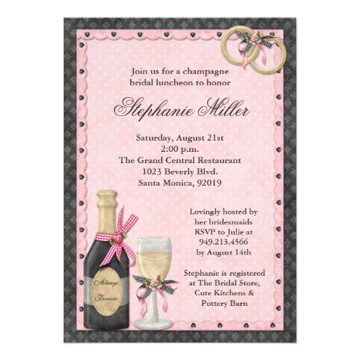 to a champagne bridal shower with these scrapbook style wedding shower ...