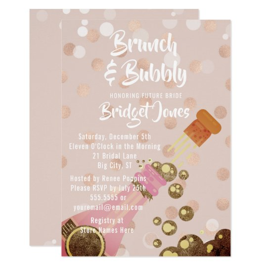 Champagne brunch bubbly bridal shower invitation zazzle champagne brunch bubbly bridal shower invitation filmwisefo