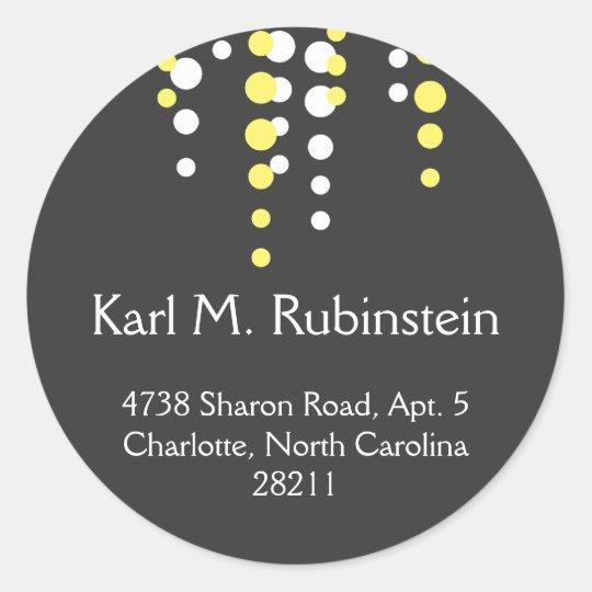Champagne bubble gray modern chic address label