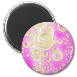 Champagne Bubbles 2 Inch Round Magnet